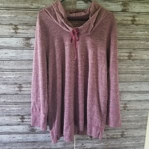 Sonoma Long-sleeved Cowl-neck Top Size 1X